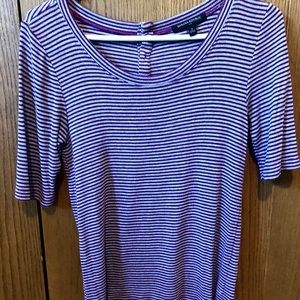 Form- Fitting, Striped Tee